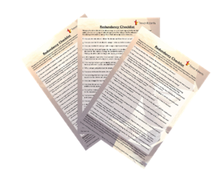 Download your FREE Redundancy Checklist now!